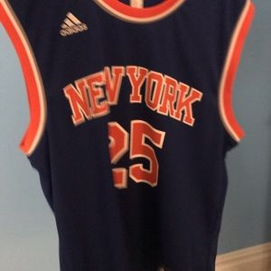 buy online 95299 158a8 Derrick rose retro Knicks jersey